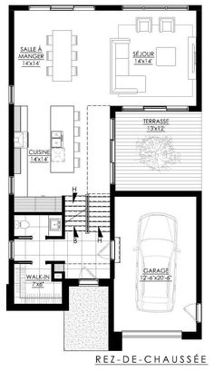 House plan ë leguë architecture Architecture Drawing Plan, Modern Architecture House, Concept Architecture, Modern House Plans, Small House Plans, House Floor Plans, The Plan, How To Plan, Plan Plan