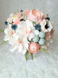 Rose Quartz Paper Bouquet Customize your Style by PAPERandPEONY