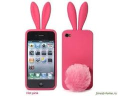 Bunny Skin Case with Furry Tail for Apple iPhone 4 (Verizon & AT&T), Hot Pink Iphone 3, Funny Iphone Cases, Pink Iphone, Coque Iphone, Iphone Case Covers, Apple Iphone, Cute Cases, Cute Phone Cases, Mobile Phone Cases