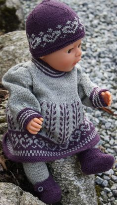 Perfekte Herbst-Outfit für Puppe Anneliese (Diy Clothes For Girls) Baby Knitting Patterns, Knitted Doll Patterns, Knitted Dolls, Baby Patterns, Crochet Patterns, Baby Born Clothes, Girl Doll Clothes, Barbie Clothes, Girl Dolls