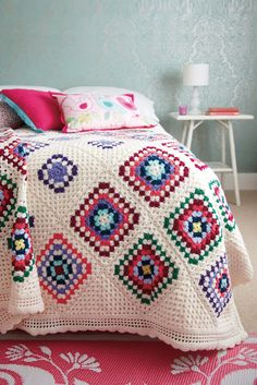 Crocheted bedspread...
