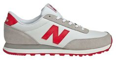 Amazon.com: New Balance - Mens Varsity Leather 501 Classic Shoes, Size: 9.5 D(M) US, Color: White with Red: Shoes