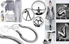 """Collana """"Snake"""" di linguette di lattine e caucciù. 100% materiali riciclati, semplicità e minimalismo q.b. -------------> Seguimi sul web: https://malicecraft.wordpress.com/  -------------> e su fb: https://www.facebook.com/MaliceCrafts"""