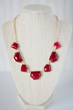 A Stone's Throw Red Necklace