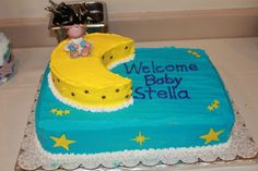 Baby Shower moon and star cake!