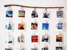 Cabe a você testar! Photo Mural, Photo Wall, Pele Mele Photo, Photo Polaroid, Bedroom Decor, Wall Decor, Diy Décoration, Diy Photo, Photo Displays