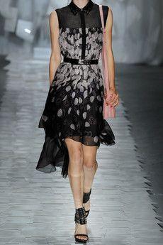 jason wu x kaws: printed silk-chiffon dress, ss12