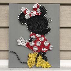 Minnie Mouse String Art | Minnie Mouse Wall Art | Nursery Decor | Home Decor