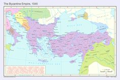Byzantion (Greek: Βυζάντιον) was the name of a humble city located on the Bosporus, later called Byzantium . The Byzantine Empire, 1045 Byzantine Empire Map, Constantinople Map, Mehmed The Conqueror, Friedrich Ii, Sassanid, Geography Map, Alternate History, Fantasy Map, Historical Maps