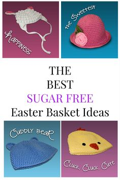Need no candy Easter basket ideas for your kids  Try these hats for Sugar  Free 0eb5cdf3da5f