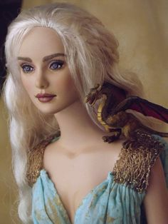 OOAK Daenarys Doll with Dragon by ~ShannonCraven on deviantART