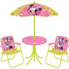So getting this for my little minnie me, CUTE!!!  Disney Minnie Mouse Springtime Garden Party 4-Piece Patio Set