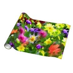 Floral Impressions Wedding Gift Wrapping Paper