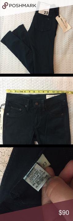 RAG & BONE The Legging Skinny Coated Jeans NWT Rag & Bone jeans. The legging style. Green gables color. Coated Denim. rag & bone Jeans Skinny