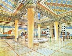 Pages of History and Science: Knossos - Palace of Minos Ancient Rome, Ancient Greece, Ancient Art, Ancient History, Ancient Aliens, Greece Architecture, Ancient Chinese Architecture, Classical Architecture, Turm Von Babylon