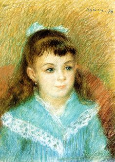 Pierre Auguste Renoir - Portrait of a young girl (Elisabeth Maître) at Albertina Museum Vienna | Flickr - Photo Sharing!