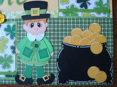 Etsy PaperPagoda 12x12 St. Patrick's Day double layout.