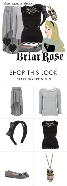 """""""Briar Rose (Once Upon a Dream)"""" by princesschandler ❤ liked on Polyvore featuring Topshop, Wallis, Miu Miu, River Island, Salvatore Ferragamo, MANGO, Miso, sleeping beauty, aurora and once upon a dream"""
