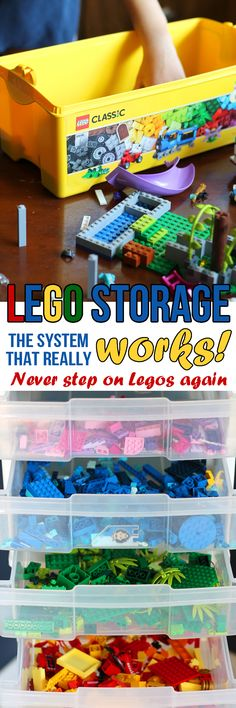 Finally, a Lego storage system that is easy and actually works! How to sort and store Legos and actually keep them organized. #keepbuilding @LEGO