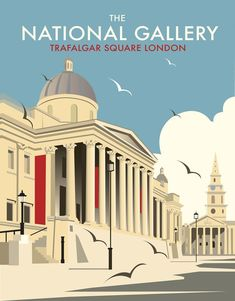 The National Gallery, Trafalgar Square, London, England by Dave Thompson