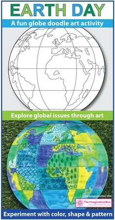 This creative classroom Earth Day art activities resource for kids is ideal for using at school as a teaching resource for grades 3, 4, 5 and 6. Create Earth Day globe art posters for the classroom, make bookmarks and experiment with color with these easy to use printable worksheets and coloring pages. Click on the 'visit' button to view this Earth Day pack in full.