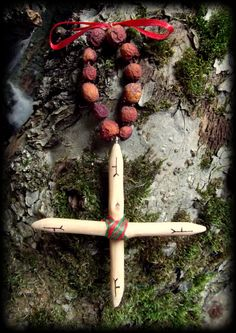 The Hedgemother Hawthorn Cross  Wicca Pagan by WytchenWood on Etsy