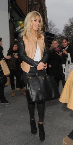 Mollie Kings 2 tone leather jacket