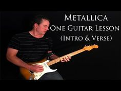 Metallica - One Guitar Lesson - Intro & Verse Guitar Lessons, News Songs, Metallica, Channel, Learning, Music, Youtube, Musica, Musik