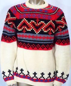 Vintage Barclay Mens Icelandic Wool Sweater - Large #Barclay #Crewneck