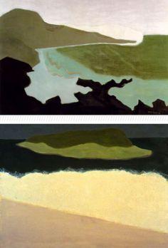 Green Sea (1954)  Offshore Island (1958)  Milton Avery