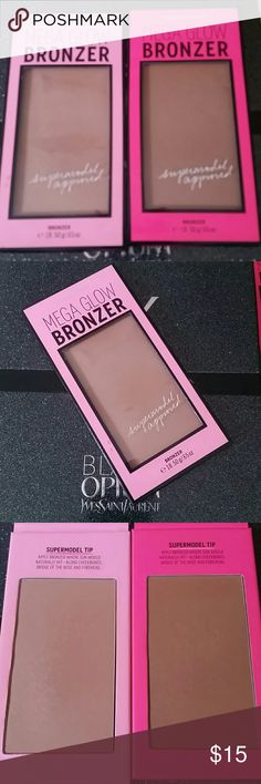 Victoria's Secret Mega Glow Bronzer Bundle Victoria's Secret Mega Glow Bronzer in light/medium (used less than 5x) and medium/deep (only swatched). Both are Ltd and discontinued, sanitized both with alcohol Victoria's Secret Makeup Bronzer
