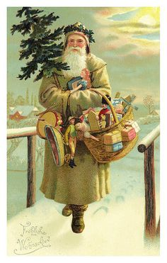Late 19th early 20th century Hungariun postman, global Christmas time. I love a bit of nostalgia.