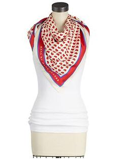 I wish I had this Marc by Marc Jacobs heart print scarf!