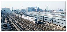 Railroads, Chicago-style, Burlington Route passenger trains south of Chicago...