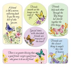 Butterfly Magnets: Friendship verses adorn beautiful nature scenes of butterflies and florals. A perfect reminder for your own refrigerator, to give as a g Verses About Friendship, Friendship Day Quotes, Happy Friendship Day, Friend Friendship, Friendship Pictures, People Change Quotes, Servant Leadership, Leader In Me, Harry Potter Wallpaper