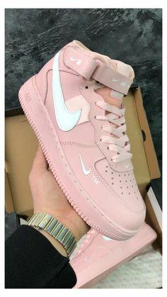 Neon Nike Shoes, Cute Nike Shoes, Nike Shoes Air Force, Cute Sneakers, Sneakers Nike, Pink Sneakers, Cool Womens Sneakers, Nike Air Force 1 Outfit, Girls Shoes