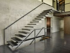 the choice of the type of the staircase and modern staircase design. Latest modern stairs designs and staircase ideas for two story homes and living room with stair railing catalogue 2019 Concrete Staircase, Floating Staircase, Precast Concrete, Staircase Design, Stair Design, Concrete Wall, Staircase Ideas, Staircase Pictures, Cantilever Stairs