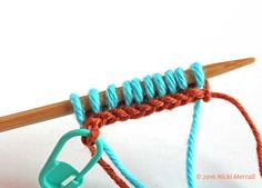 This tutorial for left-handed knitters shows you how to do a crochet provisional cast-on, useful when you need live loops at both ends of your knitting. Stitch Patterns, Knitting Patterns, Crochet Patterns, Provisional Cast On, Cast On Knitting, Left Handed, It Cast, Colors, Glass House