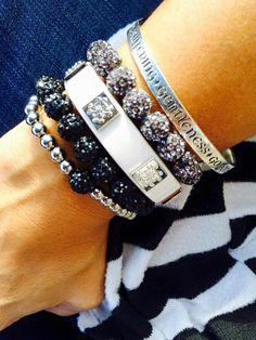 Rustic Cuff Stack with a Bangle of James Avery