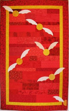 Harry Potter Gryffindor Quilt by BadBabyQuilts on Etsy, $170.00