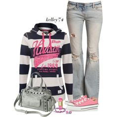 """Converse and Stripes"" by kelley74 on Polyvore"