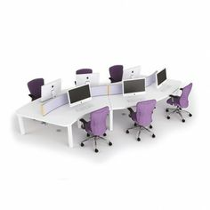 UK's Leading Range of Luxury Reception and Office Furniture. Browse the Team Desk - Fraternity curved team desks - 6 person and Contact us For Details. Office Interior Design, Office Interiors, School Furniture, Office Storage, Fraternity, Small Groups, Office Candy, Desks, Group Study