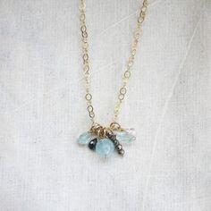 March Birthstone Necklace by Prismera Design