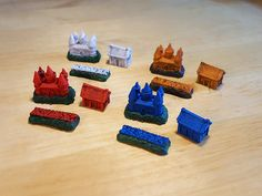 3D los colonos de Catan set / / juego de mesa hecho a mano y