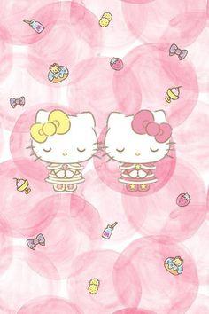 Hello Kitty Wallpaper, Kawaii Wallpaper, Hello Kitty Drawing, Hello Kitty Pictures, Hello Kitty Collection, Anime Cat, Character Wallpaper, Sanrio Characters, Little Twin Stars