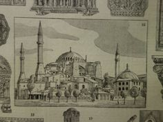 Old pictures of Byzantium Byzantine design Roman 1923 antique by DecorativePrints on Etsy