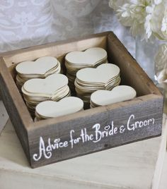 Fun idea! In lieu of traditional guestbook: Advice hearts