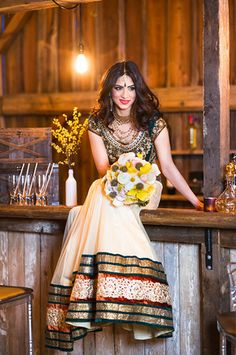 Stunning South Asian bride featured in Lavish Dulhan, photo shoot at Cambium Farms. Bollywood Fashion, Bollywood Style, Indian Fashion Trends, South Asian Bride, Asian Bridal, Indian Suits, Traditional Looks, Beautiful Saree, Anarkali Suits