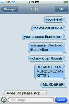 Hell hath no furry (cat punz) like Sebastian deprived of a kitten.