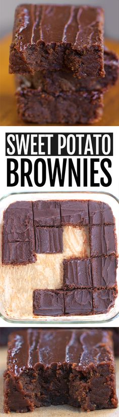 How to make super healthy and fudgy chocolate sweet potato brownies, from Chocolate Covered Katie Dairy Free Recipes, Baking Recipes, Whole Food Recipes, Just Desserts, Delicious Desserts, Dessert Recipes, Healthy Chocolate, Chocolate Recipes, Delicious Chocolate